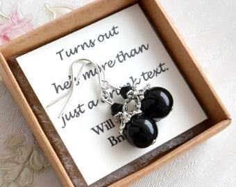 Black earrings Gothic weddings Black Jewelry Bridesmaid jewelry Bridesmaid Gift Black bridesmaid earrings Black weddings Goth bridesmaids