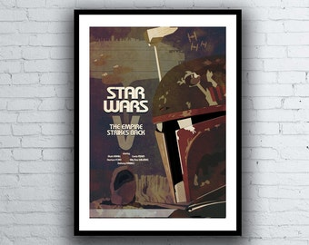 Star Wars Poster / The Empire Strikes Back Poster - Boba Fett Poster