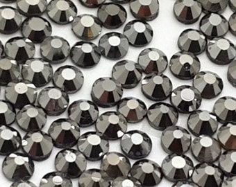 Hematite Crystal Glass Rhinestones - SS20, 1440 pieces - 5mm Flatback, Round, Loose Bling