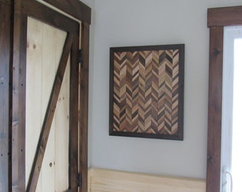 FREE SHIPPING!chevron wood wall art-wood wall art-reclaimed wood wall art-wall art-
