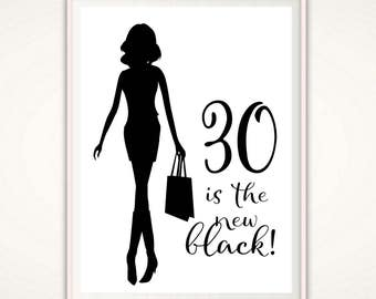 30th Birthday PRINTABLE - 30th Birthday Gift for Women, For Her, 30th Birthday Poster, 30th Birthday Art, 30th Birthday Print, Gift Ideas