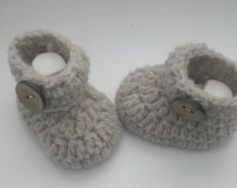 Push 8 cm - baby shoes - baby shoes - SL - booties - Babybooties - handmade - debut - wool shoes