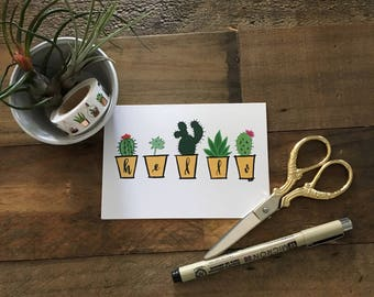 Hello Succulent Cards