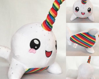 free shipping! 24 Pieces Wholesale Rainbow Narwhal bulk plush toys narwhal stuffed animal whale plush plushie wholesale plush toy
