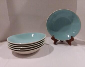 6 Vintage Hakerware Soup/Cereal/Salad Bowls
