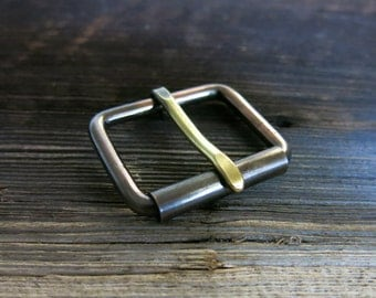 Gun Metal Blue Copper Belt Buckle - Brass Prong