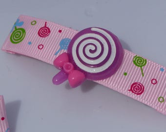 Kawaii! Cute Lollipop Candy Hair Barrette