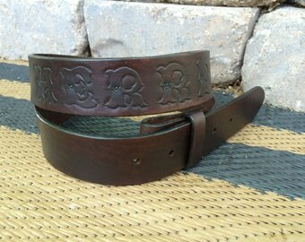 Handcrafted Leather Belt - Name/Initials Only