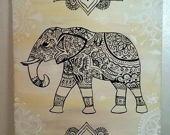 Elephant Mandala painting