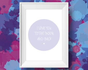I Love You Quote Print