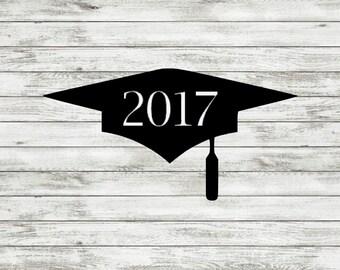 Class of 2017 Decal | Graduation Cap | Decal | 2017 | Sticker