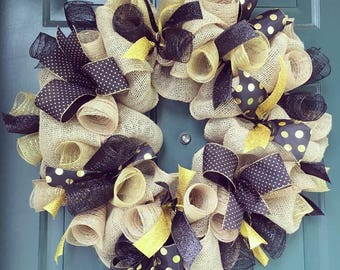 Black & Gold Wreath