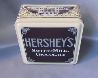 Vintage Hershey's Sweet Milk Chocolate Tin (sold individually) / 1990 Hershey's Chocolate Tin /  Vintage Hershey's Tin / Retro Hershey's Tin