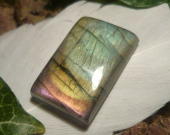 Labradorite Cabochon, 21.3ct Rectangular Shape