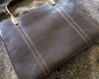 Unique Vintage Jane Shilton Made in England Brown Leather Purse