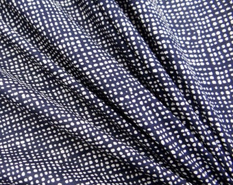 """Home Decor Fabric, Dotted Print, Navy Blue Fabric, Dress Material, Quilting Fabric, 53"""" Inch Cotton Fabric By The Yard ZBC7339A"""