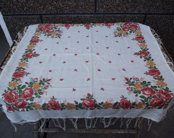 Soviet russian scarf Floral scarf Romanian shawl Vintage Bright huge shawl ukrainian folk neckerchief Old scarf Christmas Gift