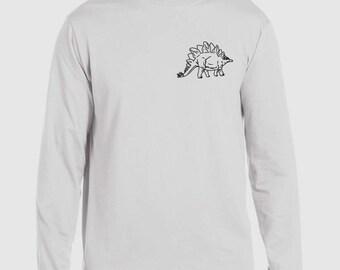 Estegosaurio dinosaurio Jurásico de manga larga camiseta Tee superior Tumblr Funny broma chica peculiar lema cita Unisex mujeres damas PJ