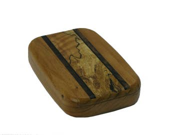 """Wood Pill Box 