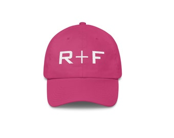 Pink Rodan And Fields Hat Embroidered, Rodan and Fields Pink Hat Unstructured 6 Panel Made in the USA