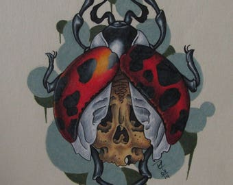 OOAK Gothic Ladybug