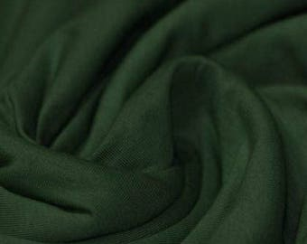 Dark Green - Cotton Lycra Jersey Knit Fabric