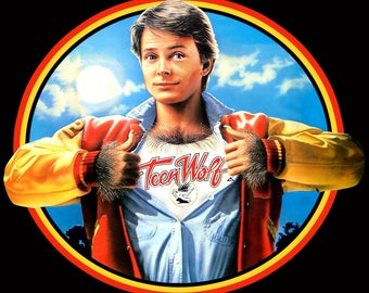 80's Michael J. Fox Classic Teen Wolf Poster Art custom tee Any Size Any Color