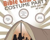 Listing for Christine/Maddie - Downloadable Flyer English - Bible Character Costume Party