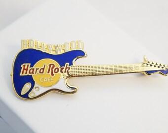 Hard Rock Cafe Pin/Hollywood Guitar Pin/Hard Rock Cafe Hollywood Guitar Pin/Pre Opening 95'/Vintage Hard Rock Cafe/Hard Rock Cafe Brooch