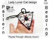 Bloody moon Triangle peyote pattern Gothic triangle  pattern Vampire pattern  Beading pattern Beaded pattern Seed beads pattern