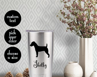 Jack Russell Terrier Solid Decal with customizeable name text