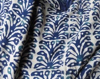 Indigo and White  Modal Fabric