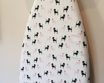 Ironing Board Cover/Paris Themed Ironing Cover/Poodle Ironing Board Cover/Dog Ironing Board Cover/French Ironing Board Cover
