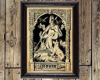 Odin print, Viking print, Wotan, Valhalla, norse art, Pagan, nordic mythology, scandinavian God, Odin, shaman, viking, Odin poster, 191