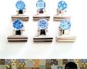 Klip-It Magnet Set: Blue & White