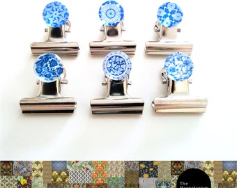 Klip-It Magnet Set: Blue & White