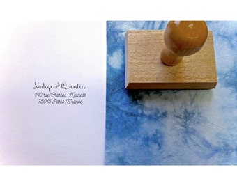 Buffer address custom Nadège & Quentin, custom address stamp, buffer address stationery wedding, custom stamp