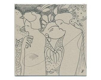 Original art 15/15 cm (5.9/5.9 inch) hand-drawn by Holger Barghorn