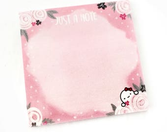 """LIMITED EDITION - 3x3"""" Munchkin 'Just A Note' 25 Paged Sticky Note Pad (Sticky Note - PINK)"""