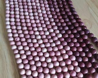 8mm maroon purple round beads, 40 beads per strand