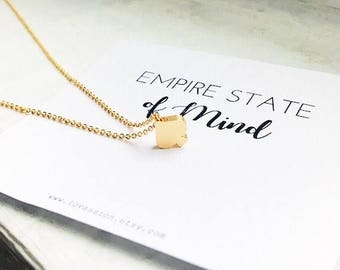 Gold Spade Necklace, tiny spade necklace, ace of spades necklace, empire state of mind card, new york necklace, ace necklace, inspirational