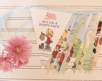 2.5m Precious Moments: Put On A Happy Face - Golden Book Bunting