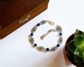 Elven Bracelet: Countess Julia (Lapis Lazuli)