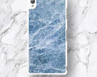 Xperia Z5 Premium Blue Marble Phone Case, Colorful Design, Deep Blue Ocean Design Xperia Z5, Z 5 mini, Z3 Z2 Z1 Z C mini cover
