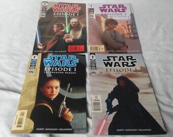 Complete set of 4  Star Wars Episode 1 Dark Horse Comics
