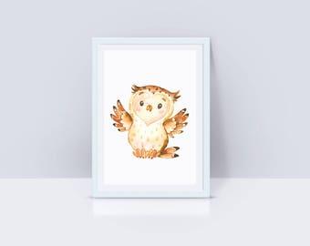 Printable Owl Nursey Decor, Owl Instant Download, Owl Nursery Decor, Nursery Wall Art, Owl