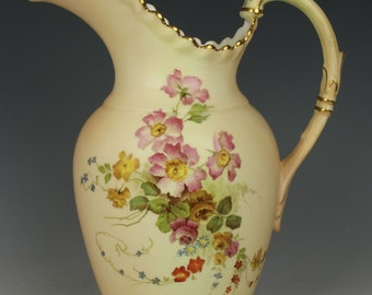 Antique 1895 Royal Worcester Ewer Pitcher Jug