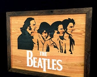 Reclaimed Barnwood Wall Art The Beatles