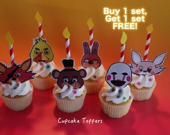 Five Nights at Freddy's Party Cupcake Paper Toppers