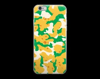 Green Bay Cheddar Cheese Camo/ Camouflage Phone Case for iPhone 5/5s/5SE, 6/6s, 6Plus/ 6s Plus, 7/7Plus for Football Fans
